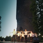 In front of Vouvant Castle